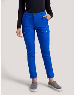 "Pantalon Jaanuu ""Skinny Cargo Pant"" Bleu Royal Collection Jolie"