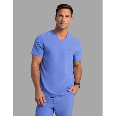 "Tunique Jaanuu Homme ""Refined V-Neck Top"" Bleu Ciel"