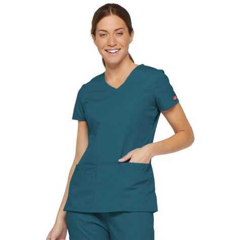 Tunique Medicale Dickies Femme Bleu Caraïbe 85906