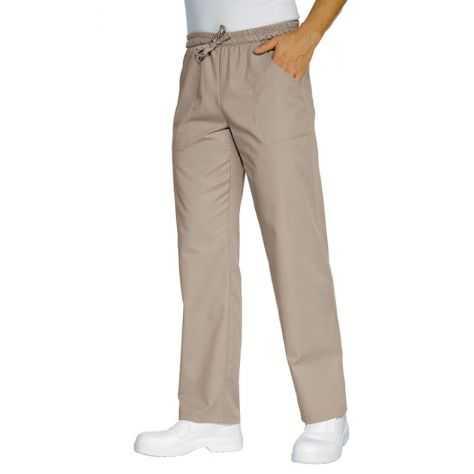 Pantalon unisexe Beige PolyCoton