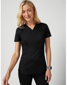 "Tunique ""Cinched V-Neck Top"" Noir Collection Classic"