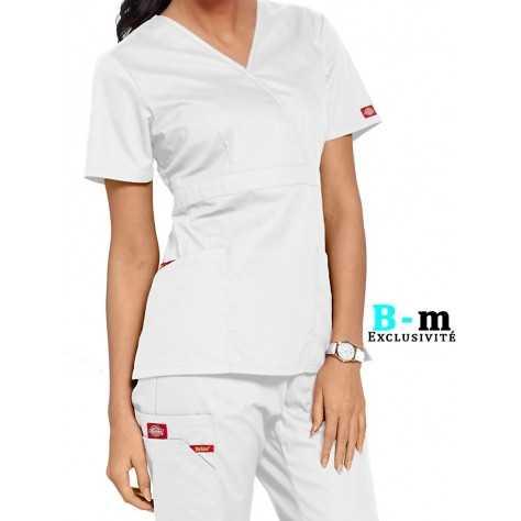 7b275a462da52 Tunique Dickies pas cher femme 86806 blanc chez blouse medicale fr