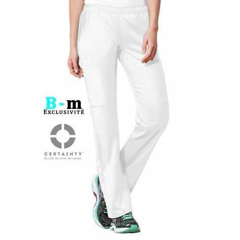 Pantalon Medical Cherokee Antimicrobien Femme Blanc 44200A