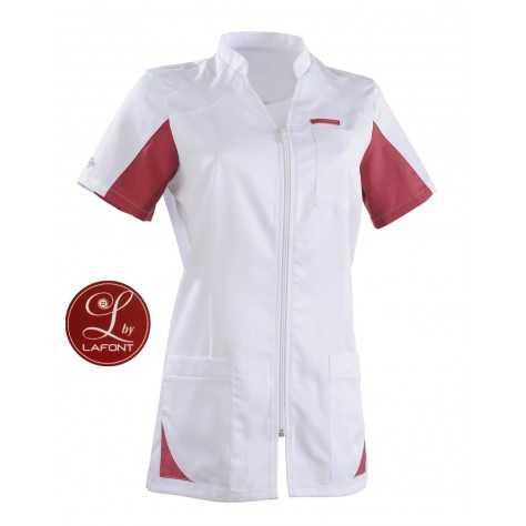 Tunique Medicale Femme Lafont Clemix 2.0 SANDRINE Blanc Cassis