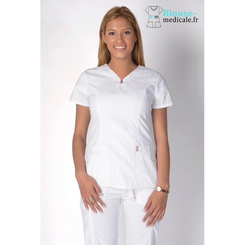 Tunique medicale Code Happy 46600AB blanc