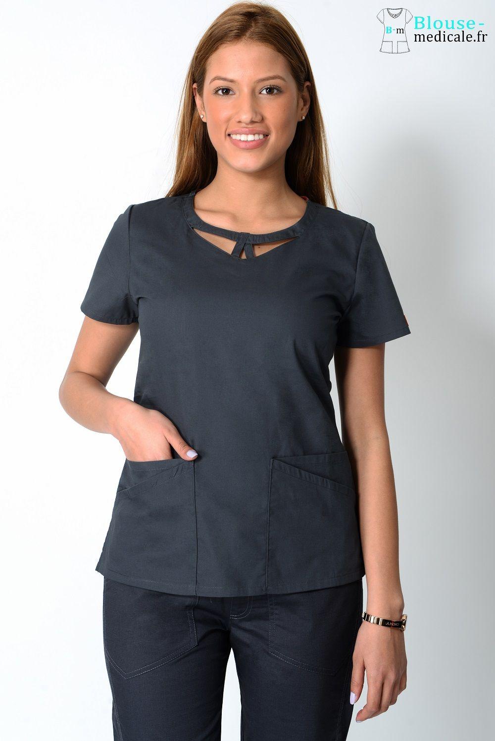 blouse medicale dickies femme 85810 gris