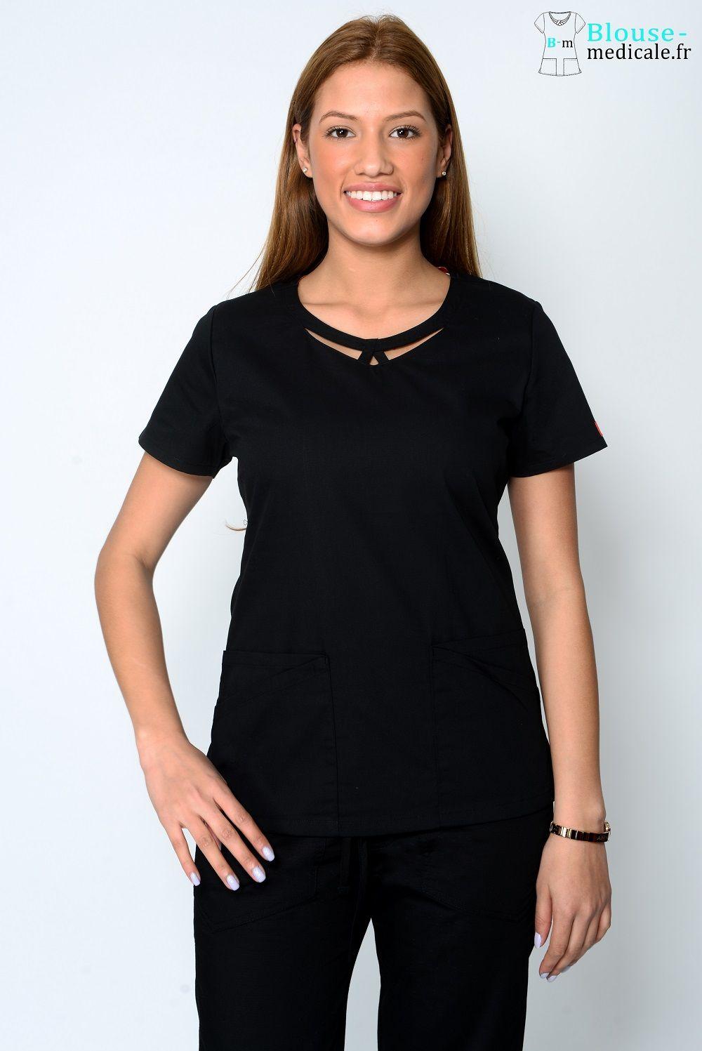 blouse medicale dickies femme 85810 noir