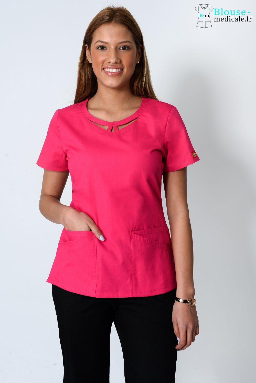 blouse medicale dickies femme 85810 fushia