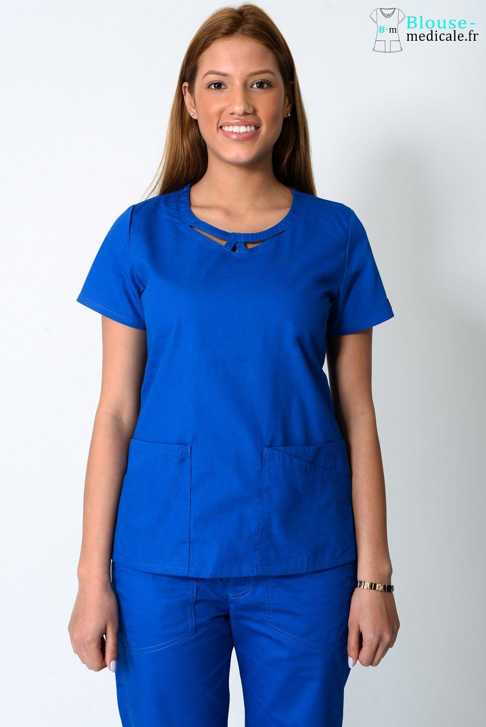 blouse medicale dickies femme 85810 bleu royal