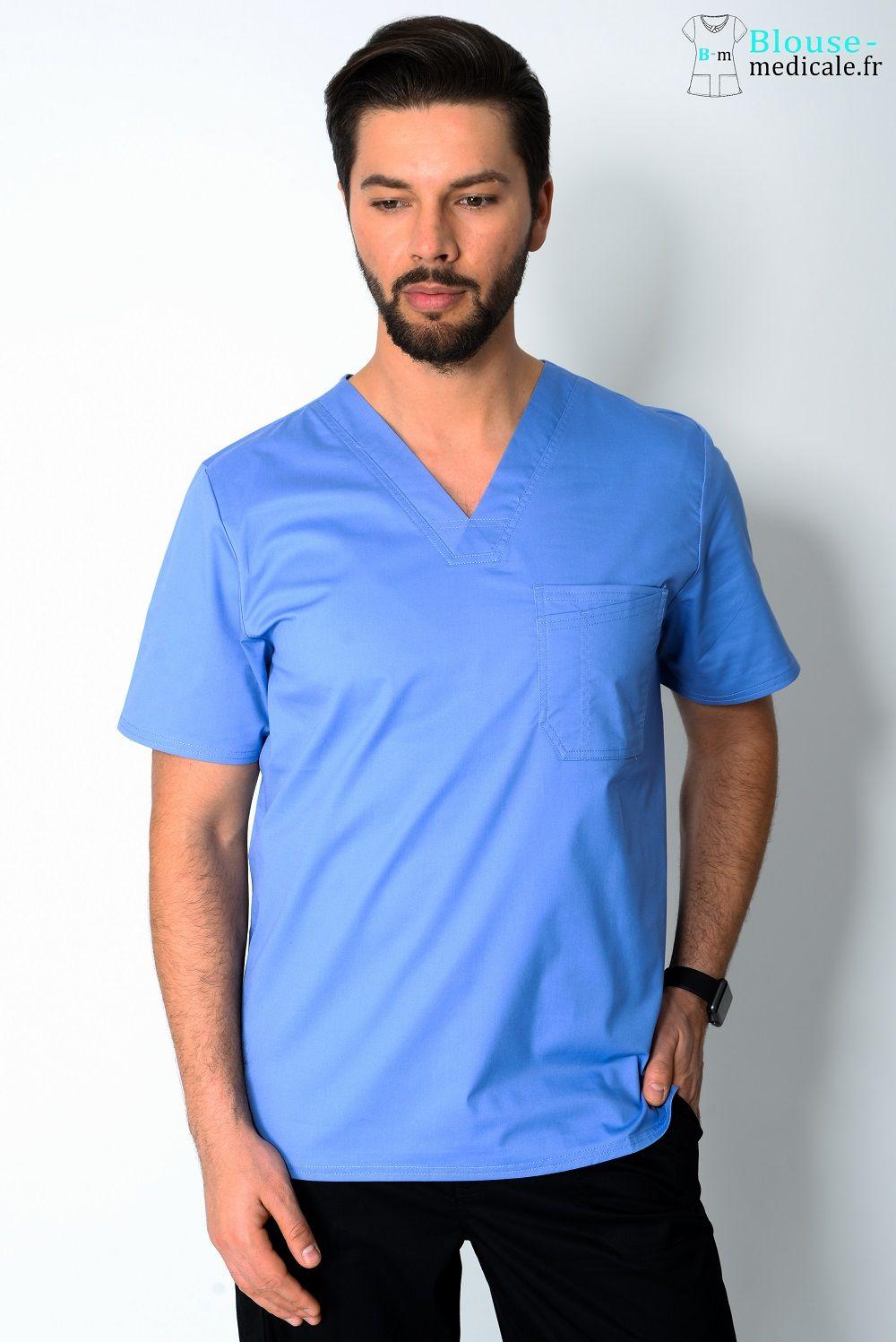 blouse medicale homme couleur cherokee bleu ciel