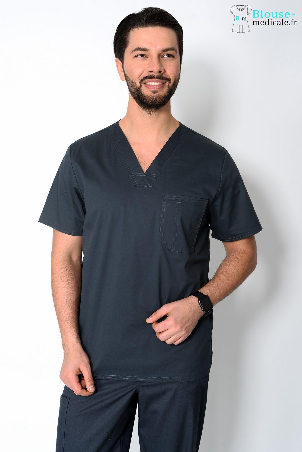 blouse medicale homme couleur cherokee gris foncé