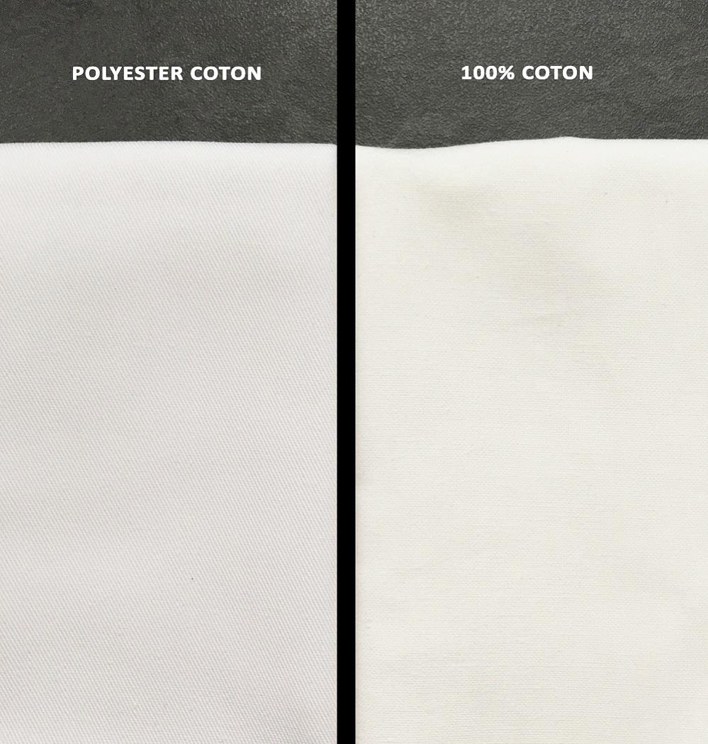tissu polyester coton blouse coton blouse polycoton