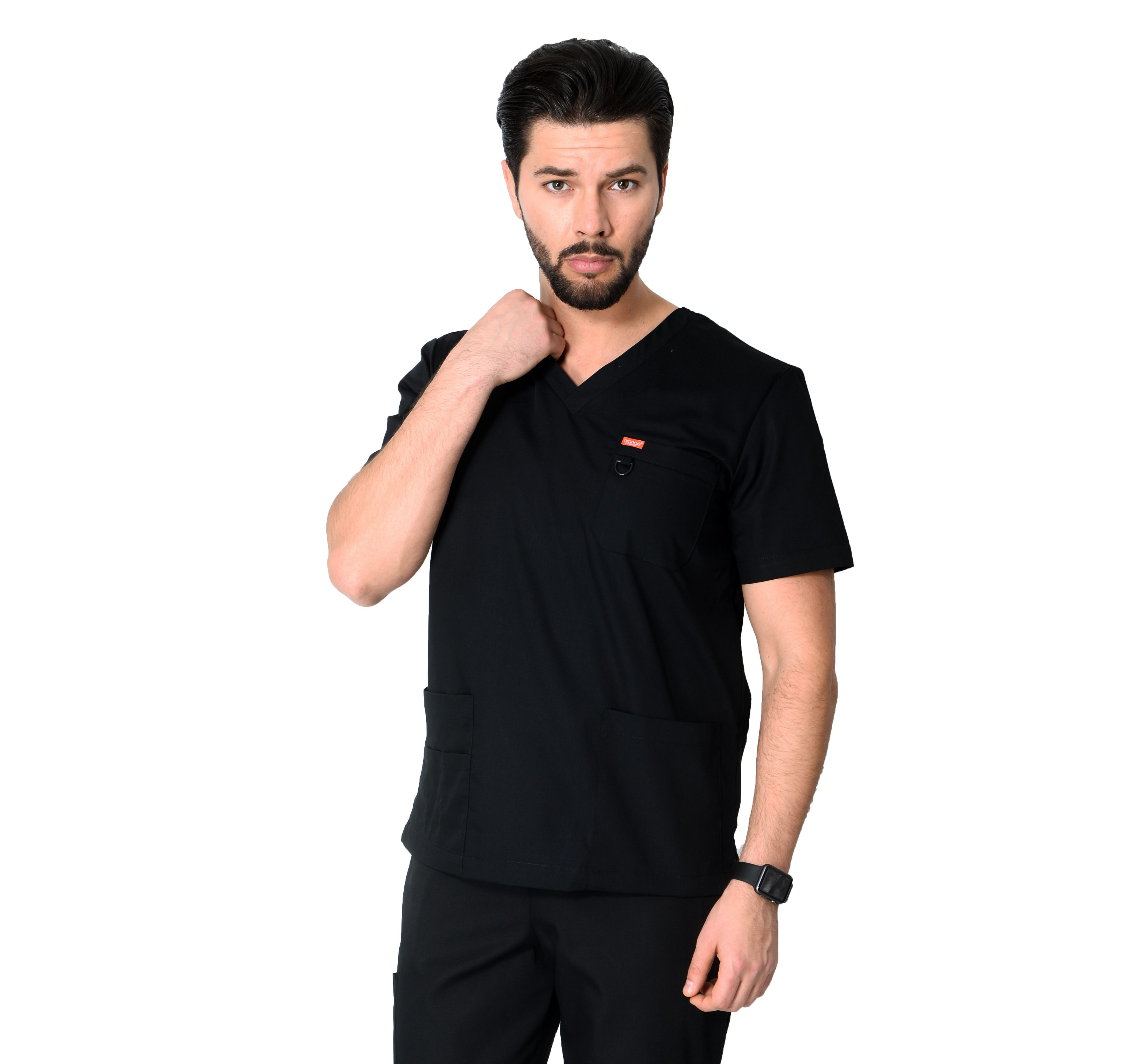 Tunique medicale Orange G3107 Noir