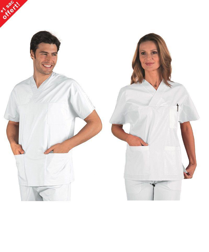 tenue médicale unisexe 100% coton pas cher