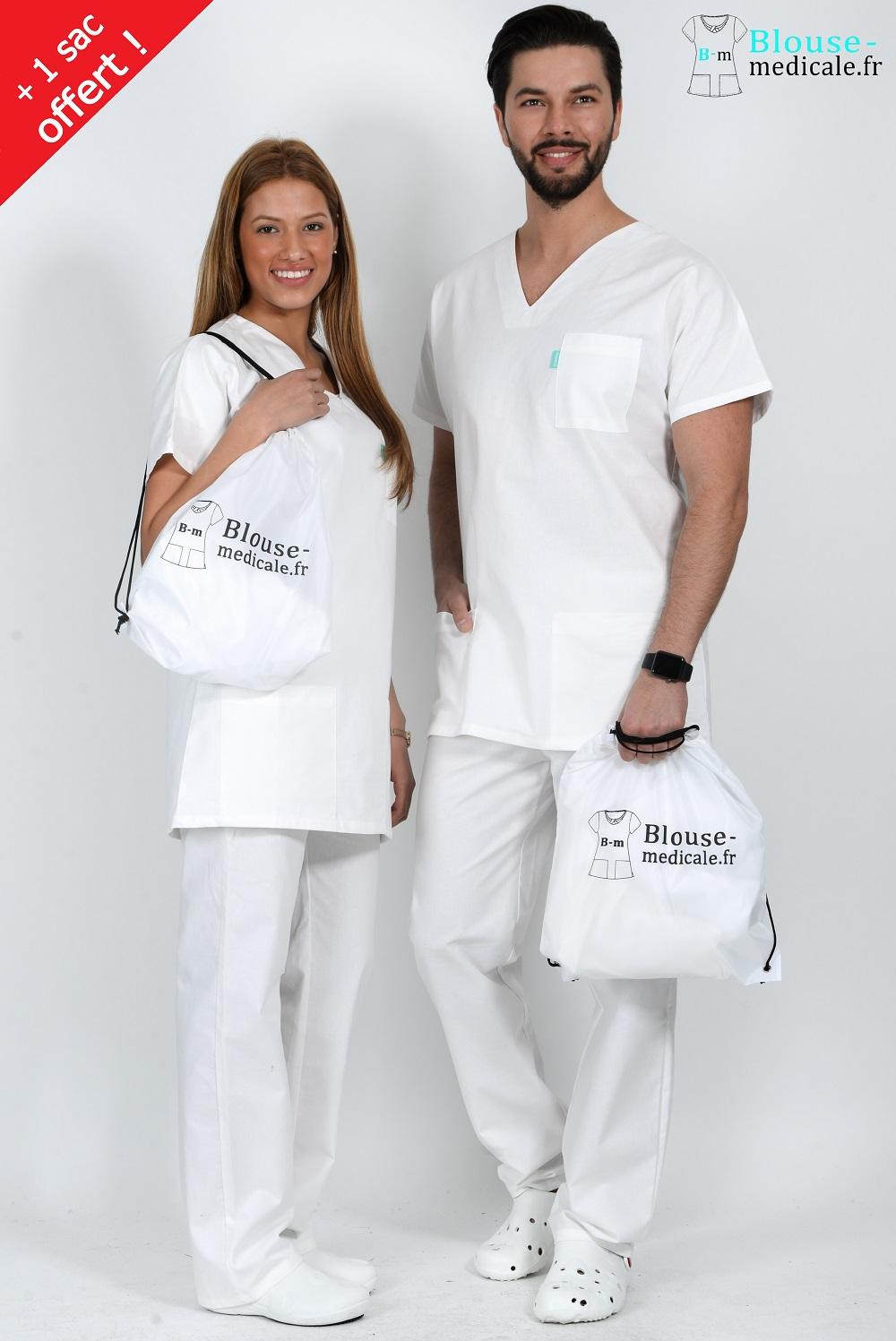 tenue medicale unisexe tenue medicale blanche tenue hopital blanc pas cher