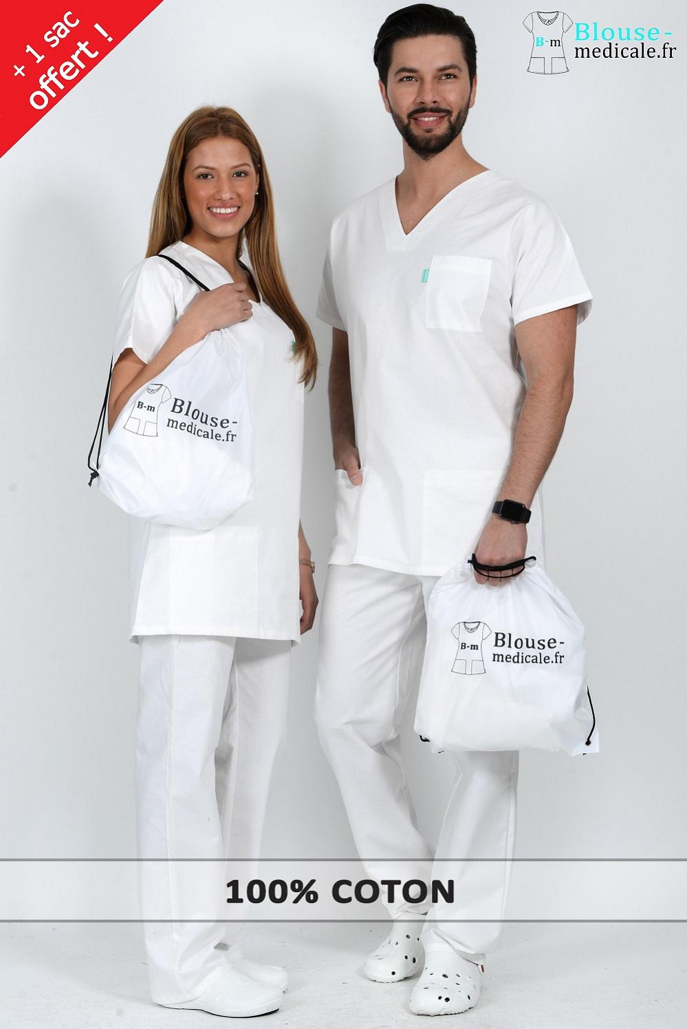 tenue m dicale homme classique blanche blouse medicale. Black Bedroom Furniture Sets. Home Design Ideas