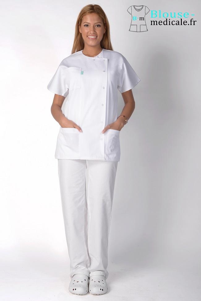 blouse medicale blanc femme tenue médicale femme pas cher