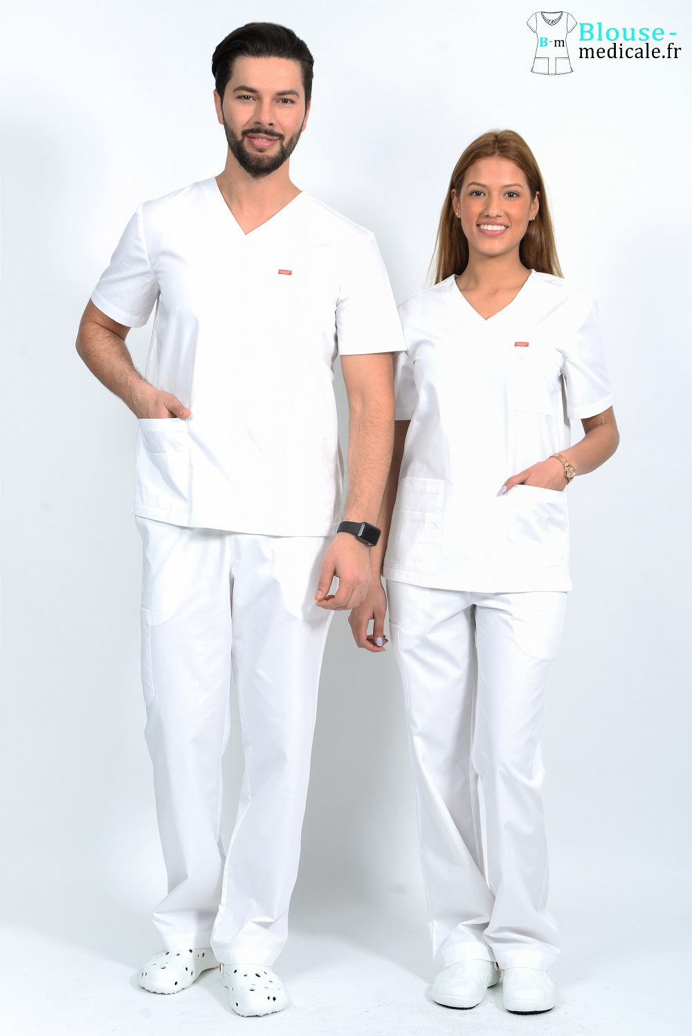 tenue medicale unisexe orange