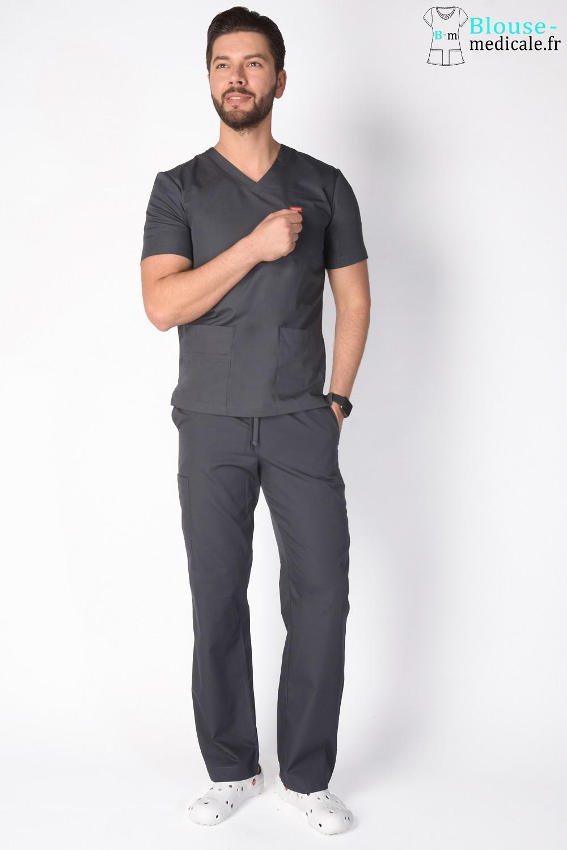 tenue médicale unisexe tenue equipe medicale kiné homme