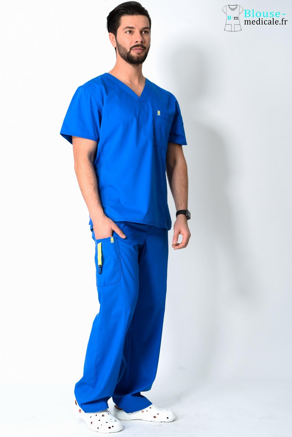 tenue médicale homme couleur tenue kiné homme haut de gamme