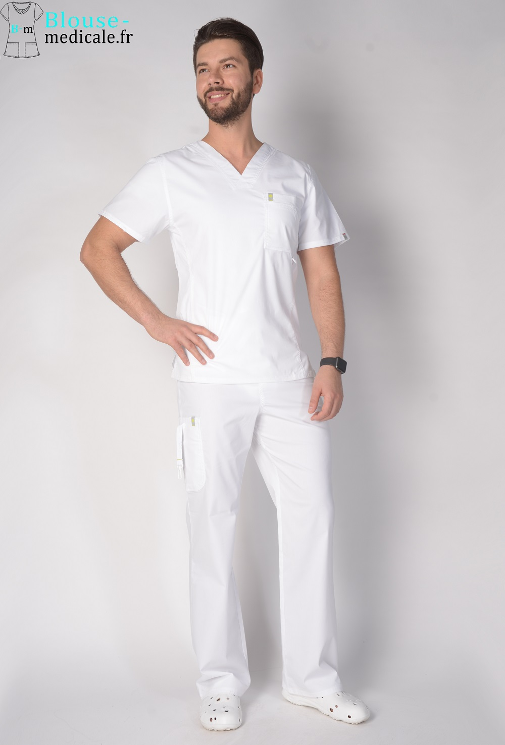 tenue médicale homme blanche tenue dentiste homme haut de gamme