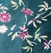 Vert imprimé Fleurs